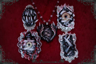 Monster Brooches and Necklace by Necrosarium