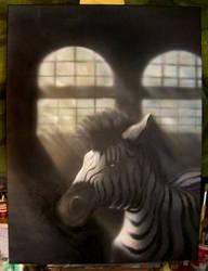 Zebra in a Factory by TheAngel83