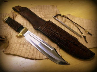 Crocodile Dundee Knife by HellfireForge