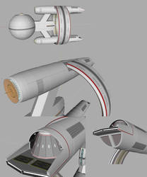 USS Alliance Secondaries and shuttlebays WIP by Fennius