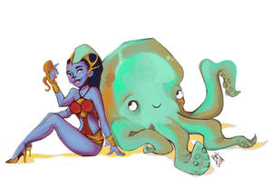 Kali and Octobro by Baygel