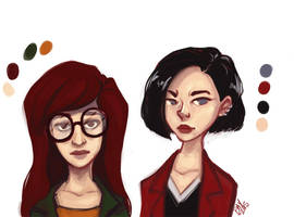 Daria and Jane by Baygel