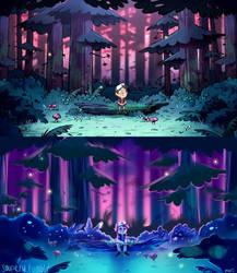 Screencap redraw (Gravity Falls) by Soupery