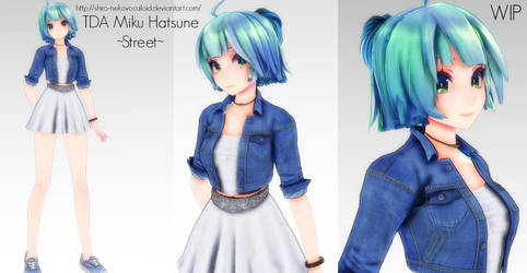 MMD - TDA Miku Hatsune ~Street~ by Shiro-NekoVocaloid