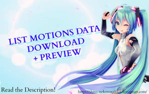 [MMD MOTIONS DATA DL] + Preview (+350 Watchers) by Shiro-NekoVocaloid