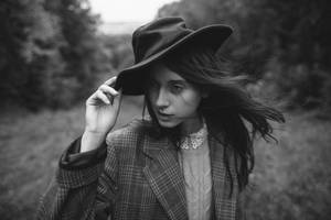 hat and wind by eugene-kukulka