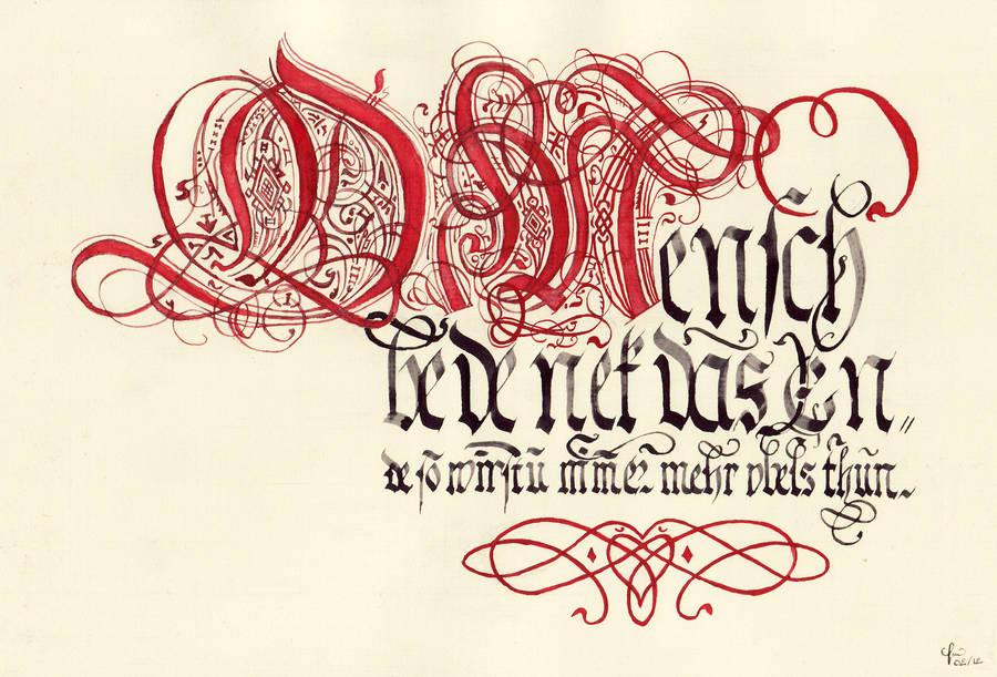 Johann Hering's calligraphy by Errance
