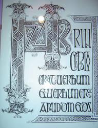 The Lindisfarne Gospels by Errance