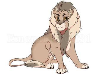 New Male Lion Oc! by XxEmeraldWolf31xX