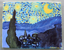 Starry Night by wingedmusician