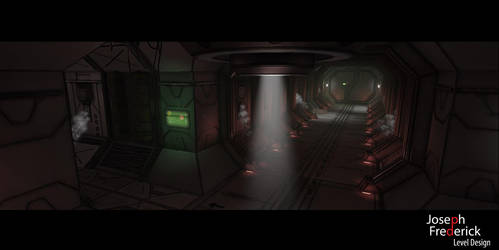 Sci-Fi spaceship environment by FoeJred
