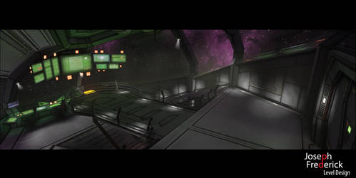 Sci-Fi spaceship environment - The Bridge by FoeJred
