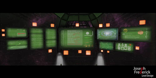 Sci-Fi spaceship environment - Bridge Monitors by FoeJred