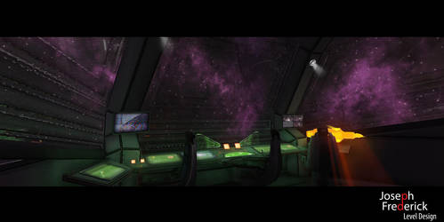 Sci-Fi spaceship environment - The Bridge Controls by FoeJred