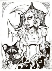 Satanya and Brutus 03 by AsDePique