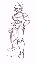 Female Minotaur by CrazyCowProductions