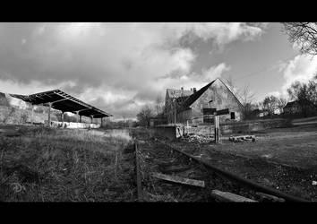 Abandoned Train Station by LordDrako