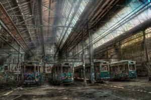 Harold Park Trams2 by RichardjJones