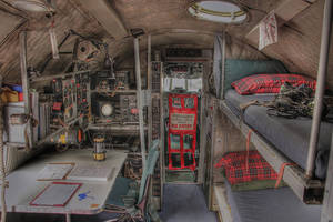 Lockheed Super Constellation flight deck cockpit by RichardjJones