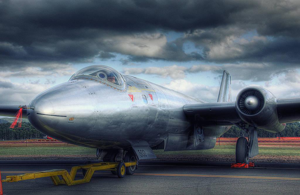 Gloster Meteor jet aircraft by RichardjJones