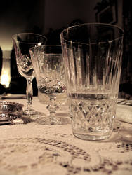 Crystalware by Candlelight by PicsiDust