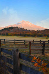 Mount Shasta Sunset by Tracys-Place