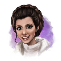 RIP Carrie Fisher - Princess Leia  by miloutjexdrawing