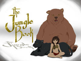 Jungle Book - Gender Bent Mowgli~Mowgla by Bees-Art-tv