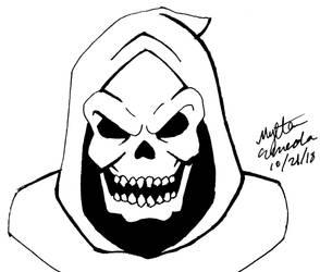 Inktober 21- Skeletor (He-Man) by Nylten