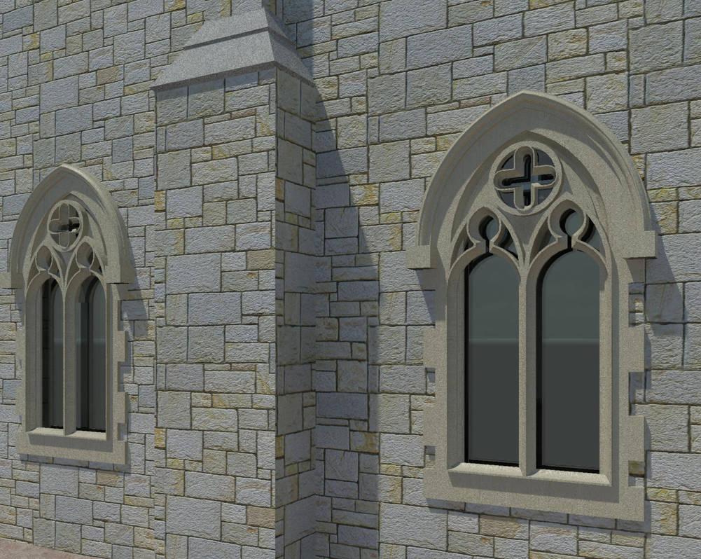 3D Revit model church window detail by krassihg on DeviantArt
