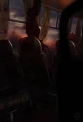 Evening Bus by DismalDewberry