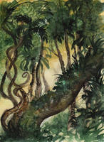 World Watercolor Month #18 - In the Jungle by Kizzy-i-Keinstein