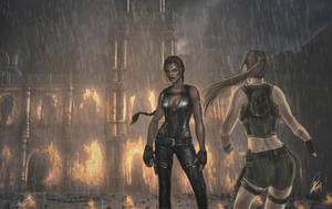 Lara vs the Doppelganger by NightWish666