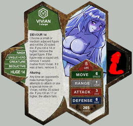 Vivian in Heroscape by blackmage20