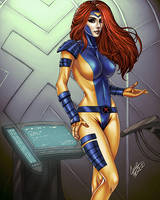 Jean Grey color by Chouaart