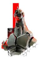 Mecha-Godzilla by ikuyoan