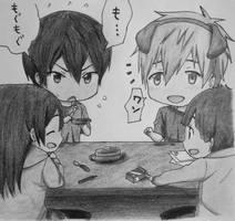 Haruka, Makoto, Ran and Ren. by ADFlowright