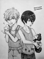 MakoHaru + Tetsuya #2. by ADFlowright