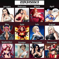 2016 DarkShadow's Art Summary by DarkShadowArtworks