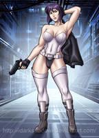 Major Motoko Kusanagi Stand Alone Complex by DarkShadowArtworks