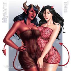COMMISSION - Myserra and Tera by DarkShadowArtworks