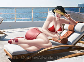 COMMISSION - Chairwoman on yacht by DarkShadowArtworks