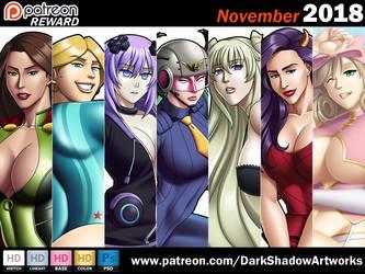 PATREON REWARD - November 2018 by DarkShadowArtworks