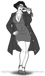 BFC2018 - Chairwoman business suit by DarkShadowArtworks