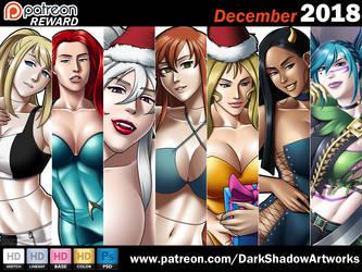 PATREON REWARD - December 2018 by DarkShadowArtworks