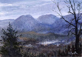 Catskill Mountains ACEO by kimdemulder