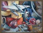 Oil Pastel Still Life by Fleurdelyse