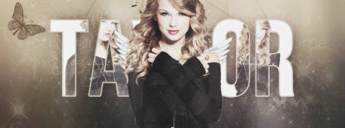 taylor swift - psd header by SilaEOfficial