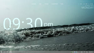 Minimal to the bone rainmeter setup by SeaOfOcean
