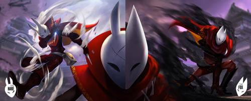 The Fox and The Hare by ArtofLariz